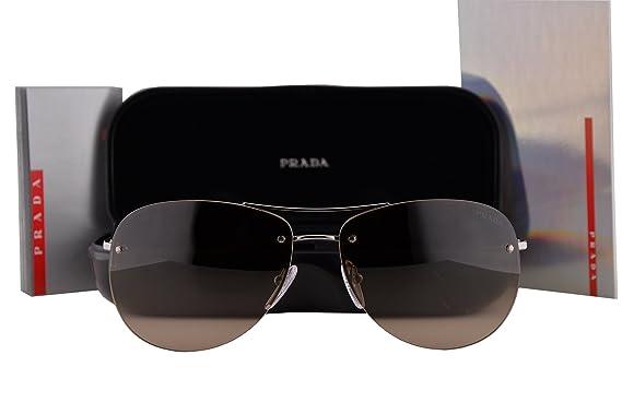 efab67196ebbb Prada PS50RS Sunglasses Gunmetal Gray w Brown Gradient Lens 59mm 5AV6S1  SPS50R PS 50RS SPS 50R  Amazon.co.uk  Clothing