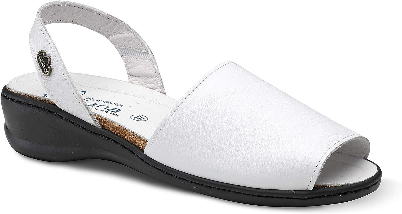 Feliz Caminar - Sandalia Piel Antideslizantes y Cómodas para Hombre y Mujer | Frescas para Vestir en Epocas de Calor Verano Primavera | Modelo Menorquina | Talla 40 | Color Blanco