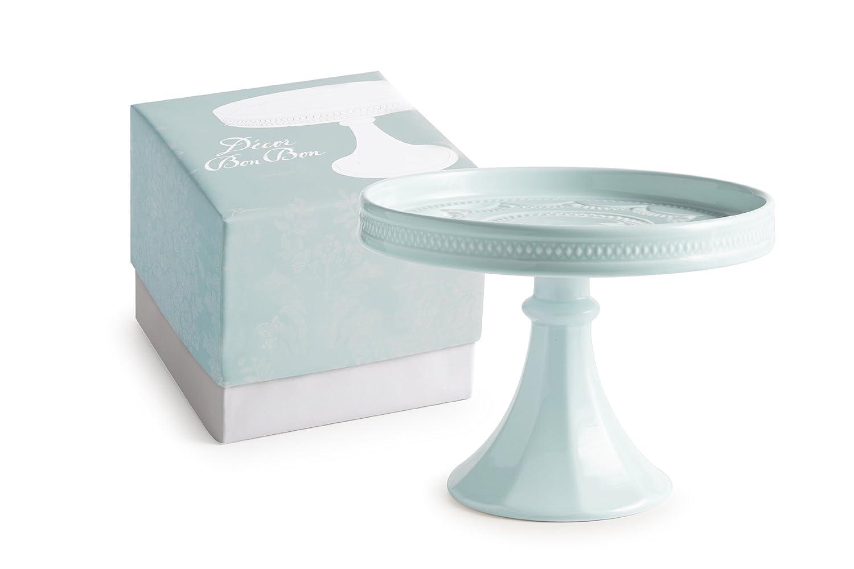 Rosanna 93634 Decor Bon Bon Hue Rimmed Pedestal, Small, Blue Rosanna Imports Inc
