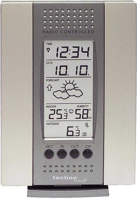 Technoline WS 7014 IT Estación meteorológica, plata con baterías: Amazon.es: Jardín
