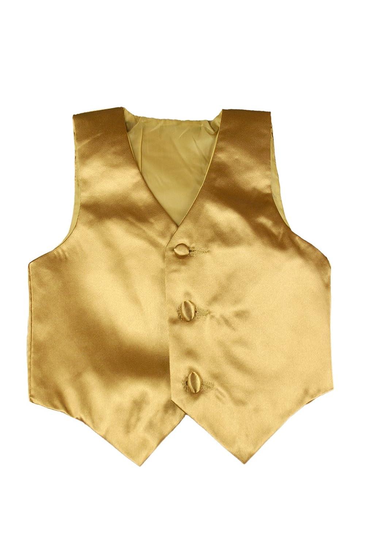 Baby Toddler Kids Little Boys Formal 23 Color Satin Vest S-7 3T, Red