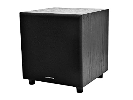 8 Inch 60-Watt Powered Subwoofer - Black Subwoofers at amazon