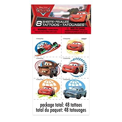 Disney Cars Tattoos, 48ct: Toys & Games