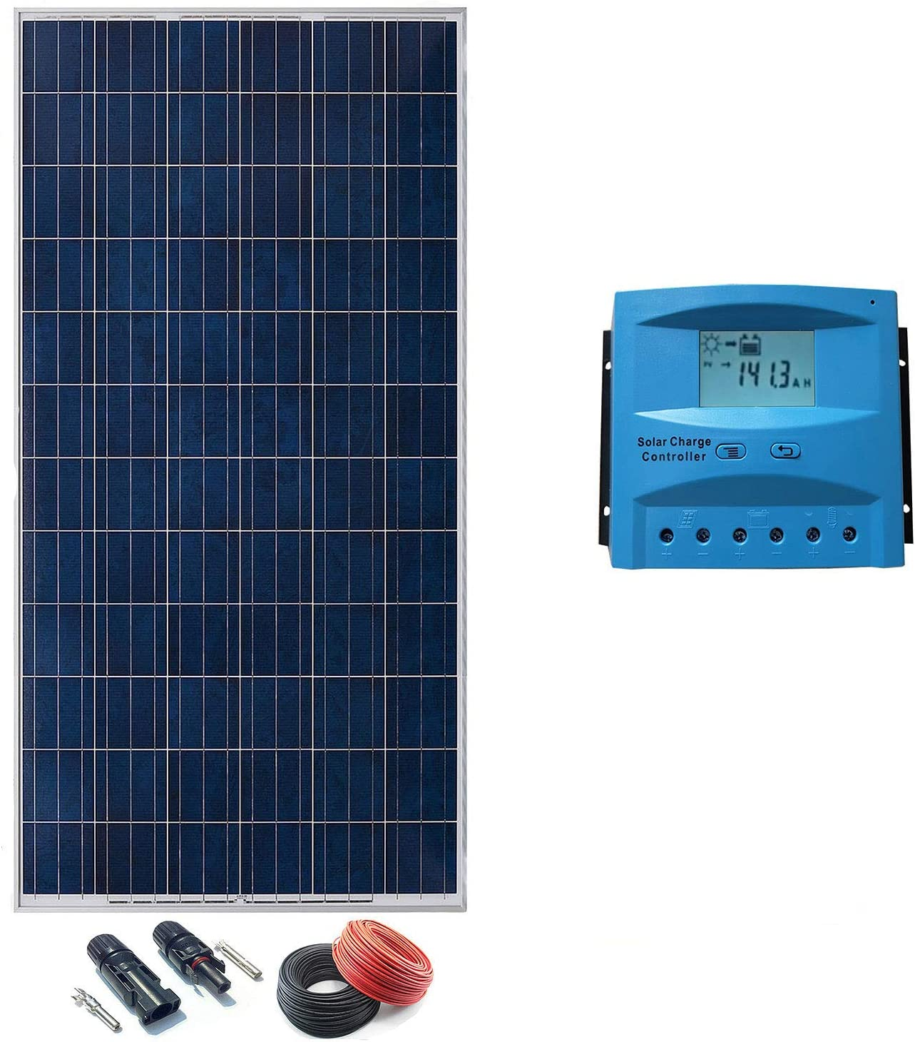 Kit Solar 24v 1000w a 4000w Hora Regulador 40a con LCD (4 paneles ...