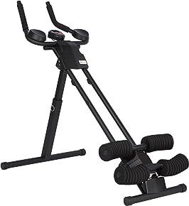 Ultrasport Bauchtrainer Ultra 150 Curved, Fitness Power AB Trainer. Platzsparender Bauchmuskeltrainer für Muskelaufbau, Fitness und als Unterstützung Beim Abnehmen, Alles in Einem Gerät