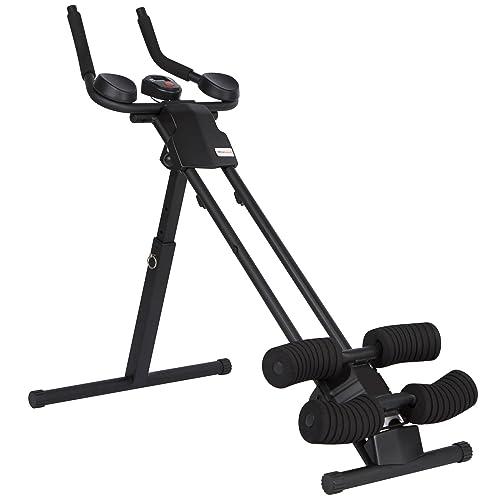 Ultrasport Aparato de abdominales Ultra 150 Curved - Fitness Power AB Trainer Aparato de abdominales que