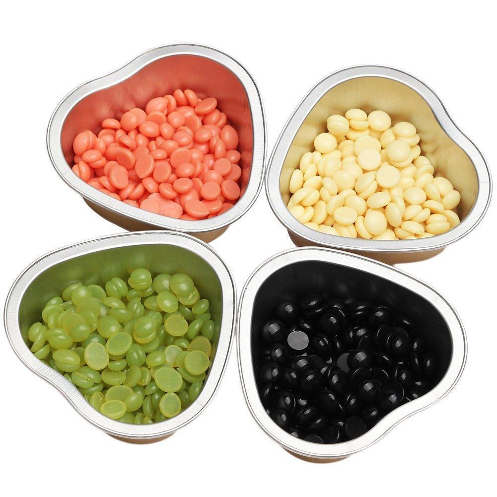 Bluezoo Wax Melting Bowl Mini Waxing Pot for Brazilian Hard Wax Beads Hair Removal Warmer Hot Film Waxing Pellets Pack of 5