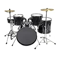 Best Choice Products Drum Set 5-Piece Complete Adult Set Cymbals Full Size Black New Drum Set