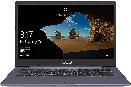 Asus VivoBook S406UA-BM174T Laptop, Intel Core i7-8550U, 14-Inch FHD, 512GB SSD, 8GB, English-Arabic Keyboard, Windows 10, Dark Grey.