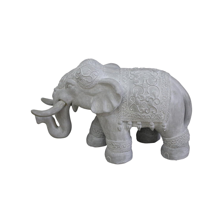 HOMEA 5dej1328bc Estatua Dibujo Elefante Tiza Blanco 65 x 26 x 40 cm: Amazon.es: Hogar