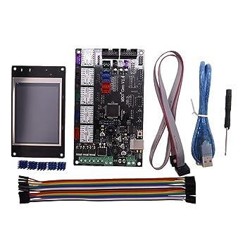 Semoic Placa Base de Impresora 3D MKS Gen V1.4 Placa de Control ...