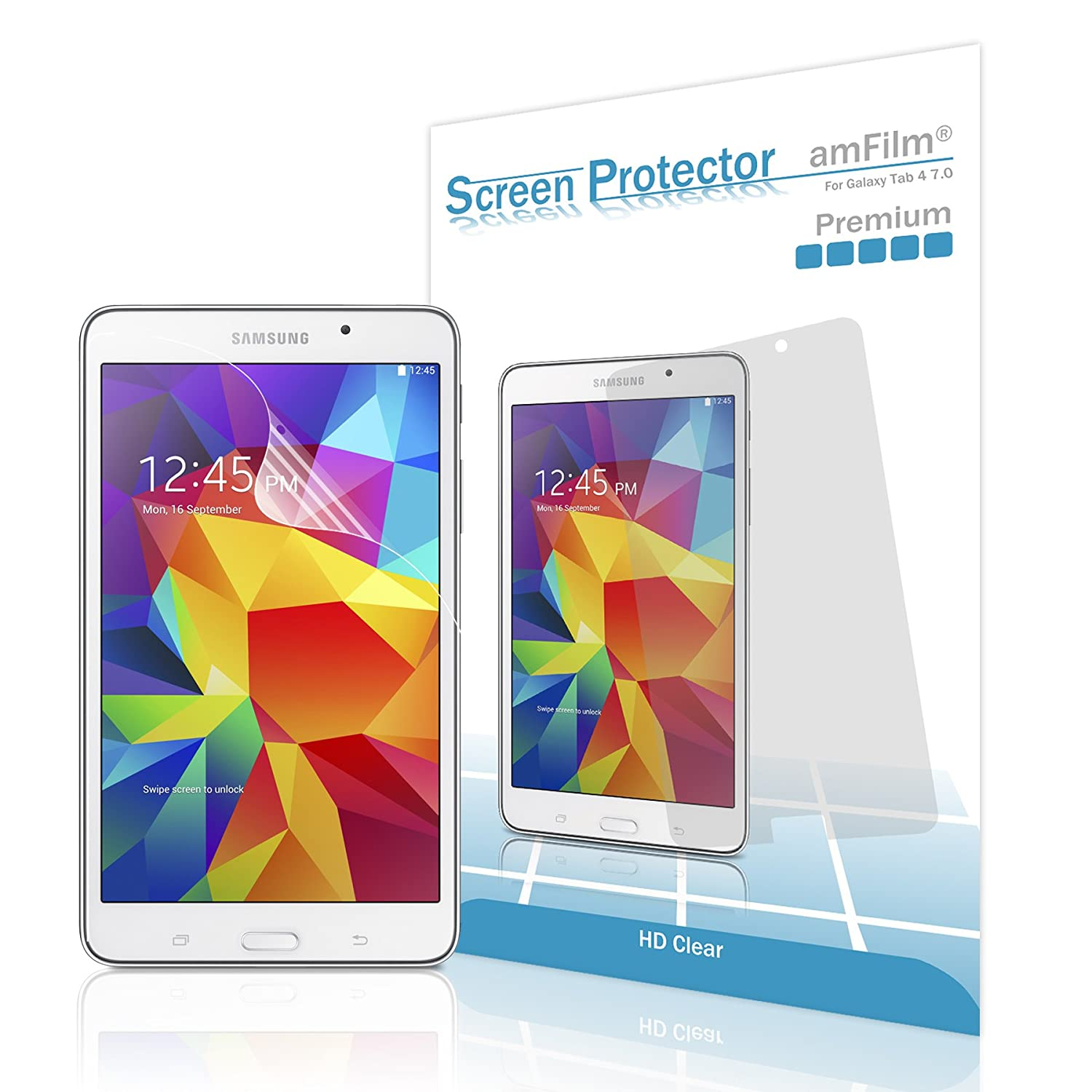Amazon.com: Galaxy Tab 4 7.0 Screen Protector, amFilm Screen Protector for  Samsung Galaxy Tab 4 7.0 inch Premium HD Clear (2-Pack): Computers &  Accessories