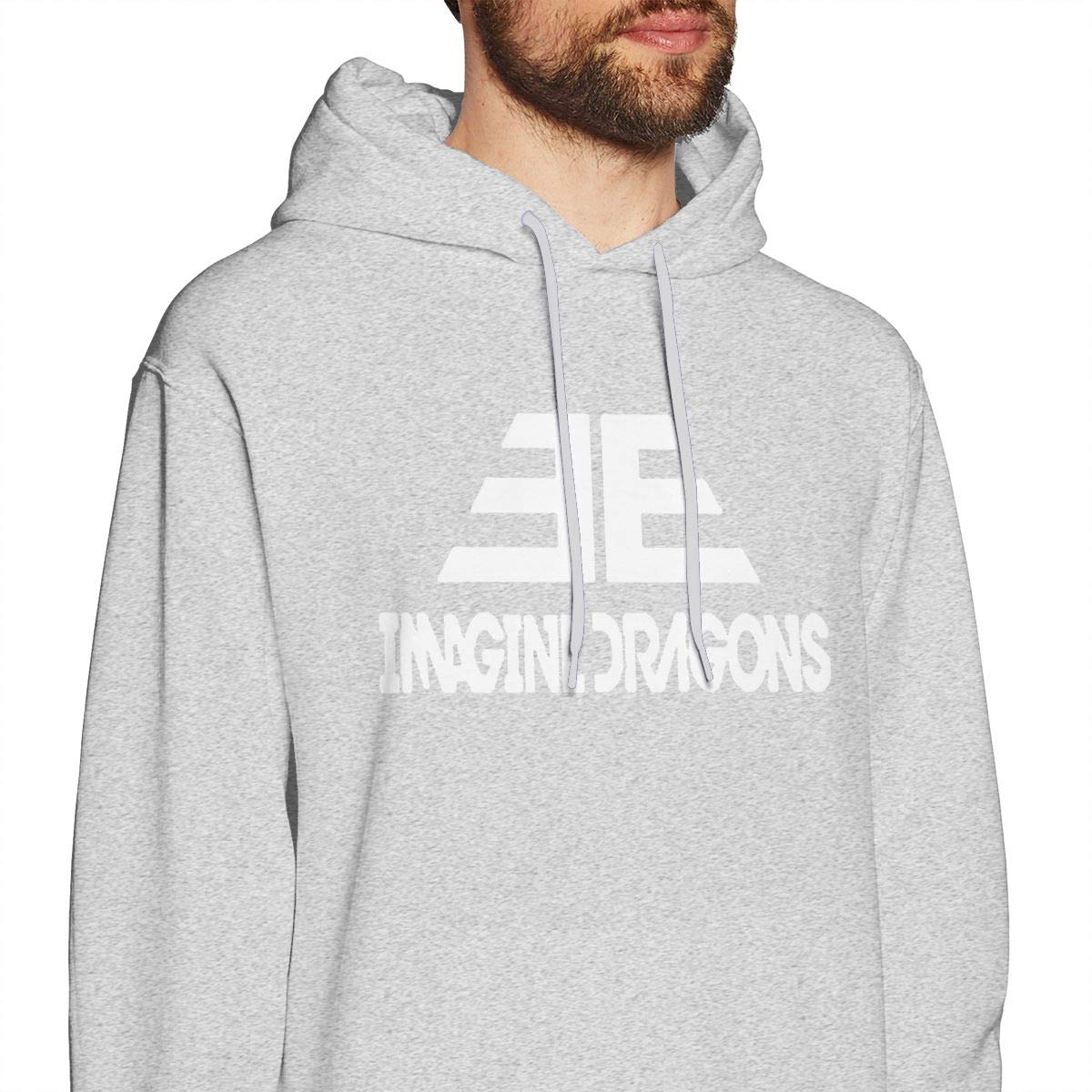 Mens Hooded Sweatshirt Imagine Dragons Personality Street Trend Creation Gray