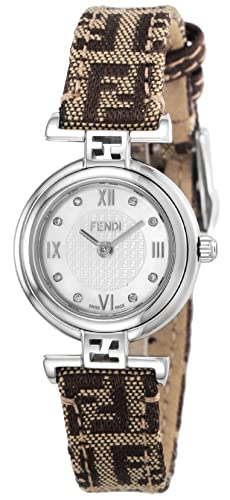 Fendi reloj moda blanco perla Dial diamante f271242df: Amazon.es: Relojes