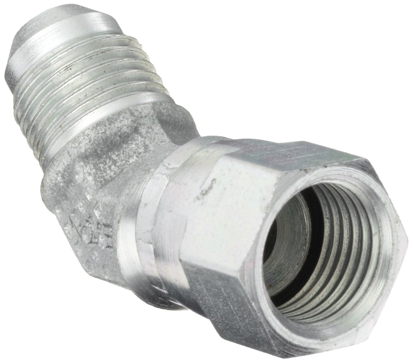 Eaton Aeroquip 2070-6-6S 45 Degree Swivel Nut Elbow, JIC 37 Degree End Types, Carbon Steel, 3/8 JIC(f) x 3/8 JIC(m) End Size, 3/8'' Tube OD by Aeroquip