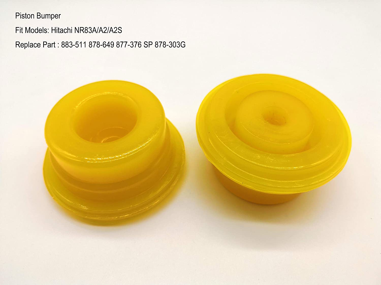 (2pk) Aftermarket Nailer Piston Bumper for Hitachi NR83A/A2/A2S 883-511 878-649 877-376 SP 878-303G 71z6Fp1iIeL