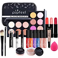 Professional Makeup Set,MKNZOME 20 Pcs Cosmetic Starter Kit With Storage Bag Portable Travel Make Up Palette Birthday…