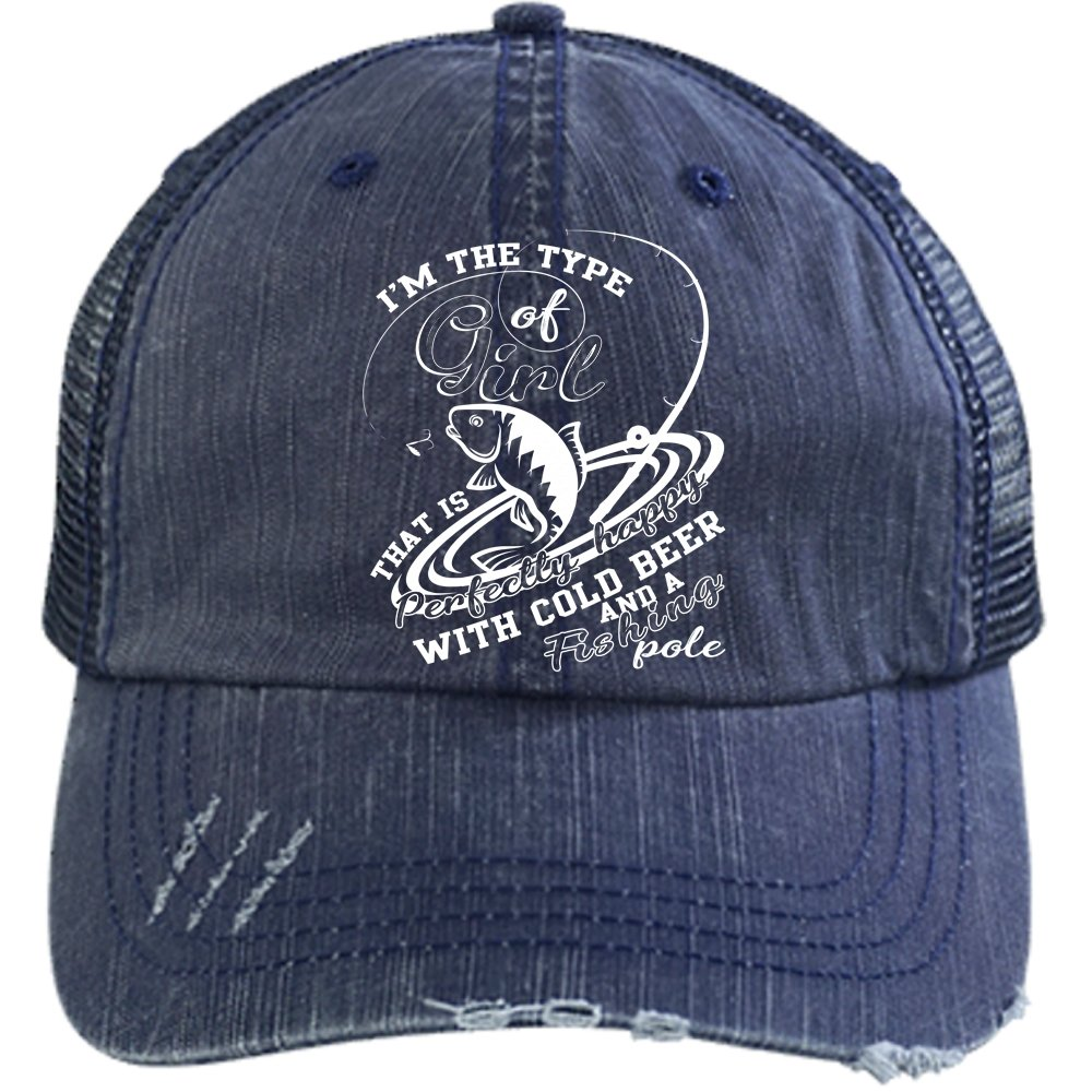 3e231bc50bfb5 Happy With Fishing Pole Hat