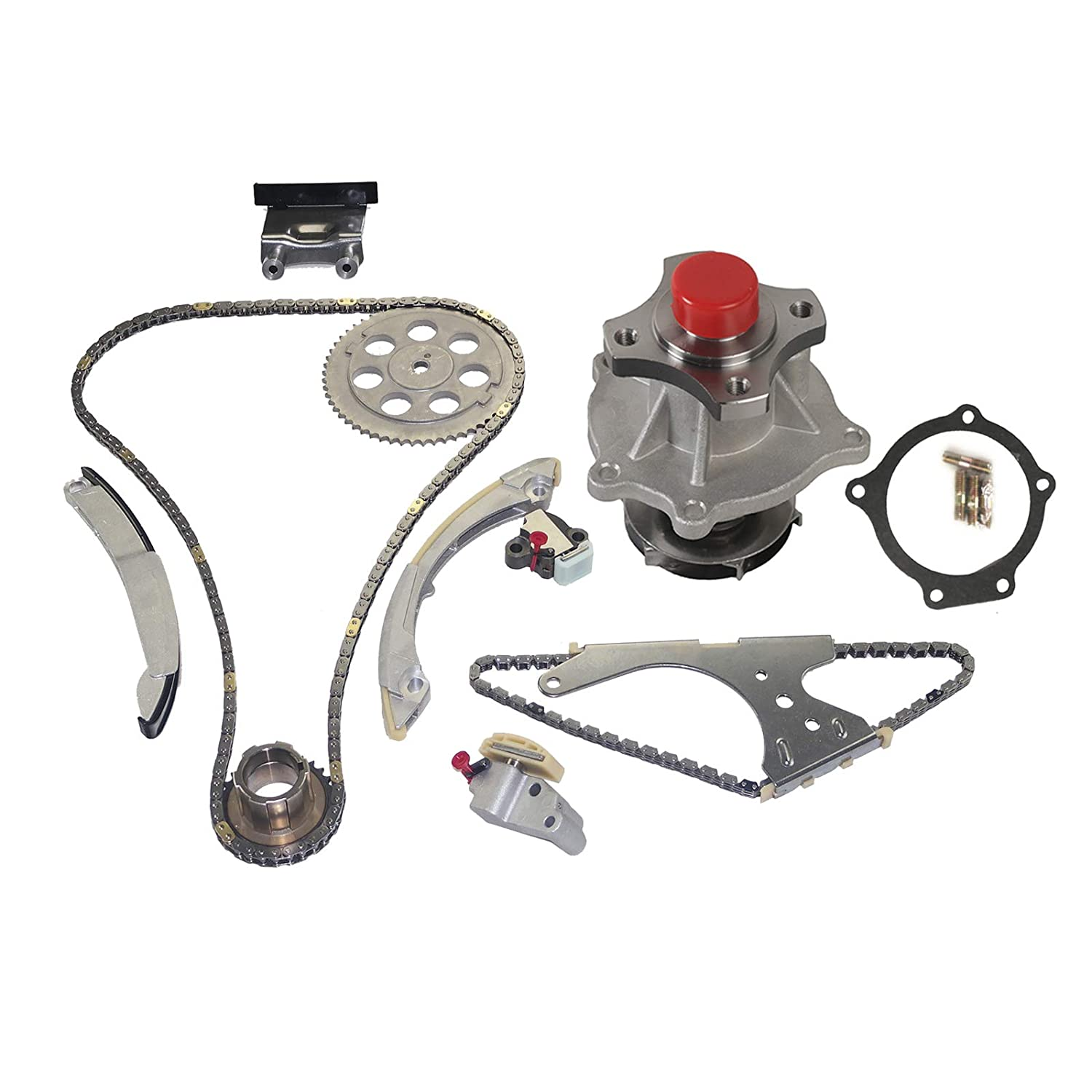 Hummer H3 Isuzu i-290 /& i-370 2.9L 3.7L L4 GMC Canyon MOCA Timing Chain Kit Water Pump for 07-11 Chevrolet Colorado