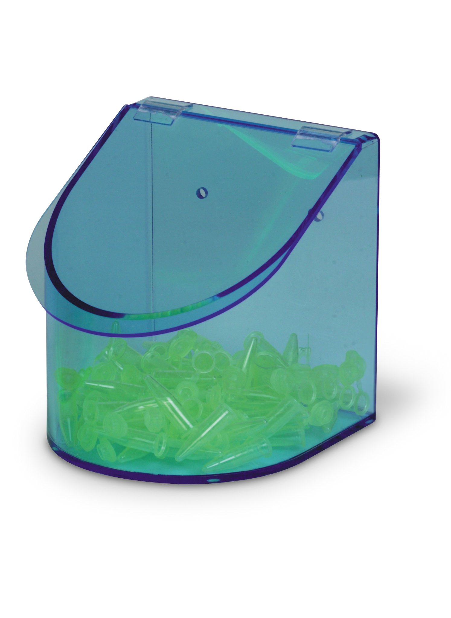 Heathrow Scientific HD23412 Neon Blue Acrylic Benchtop Dispensing Single Compartment Bin, 155mm Width x 155mm Height x 170mm Depth by Heathrow Scientific (Image #1)