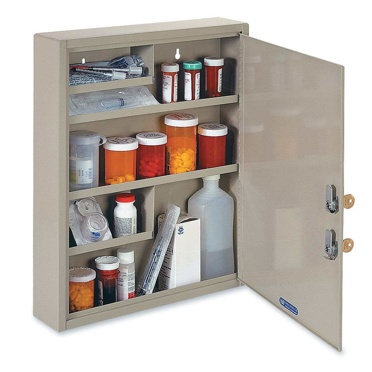 STEELMASTER Large Medical Security Cabinet, Dual Locks, Sand (2019065D03)