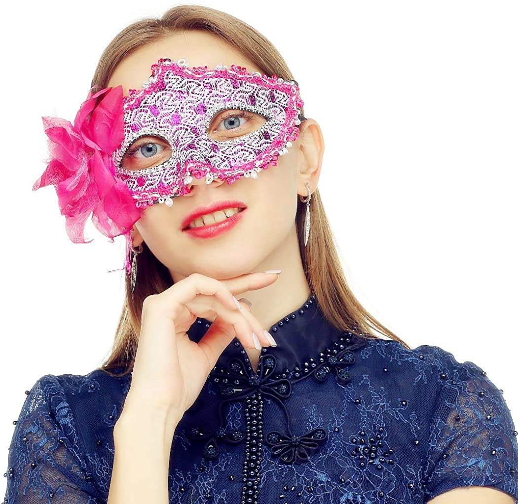 Masquerade Mask for Women Venetian Lace Eye Masks for Carnival Prom Ball Fancy Dress Party Supplies