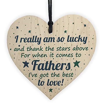 RED OCEAN Dad Birthday Card Gifts From Bump Daughter Son Wooden Heart Christmas Thank You Gift Amazoncouk Kitchen Home