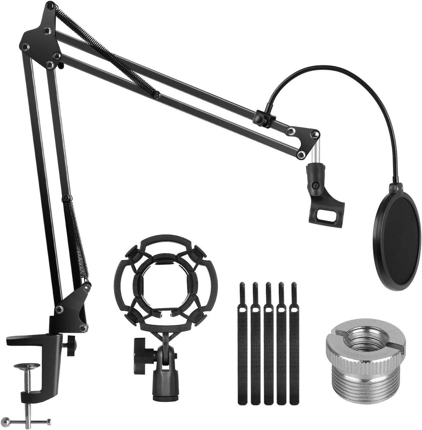 InnoGear Adjustable Suspension Boom Scissor Arm Microphone Stand