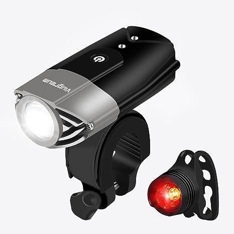 Viugreum Luces de Bicicleta LED Potente 3 Modos,Linterna para ...