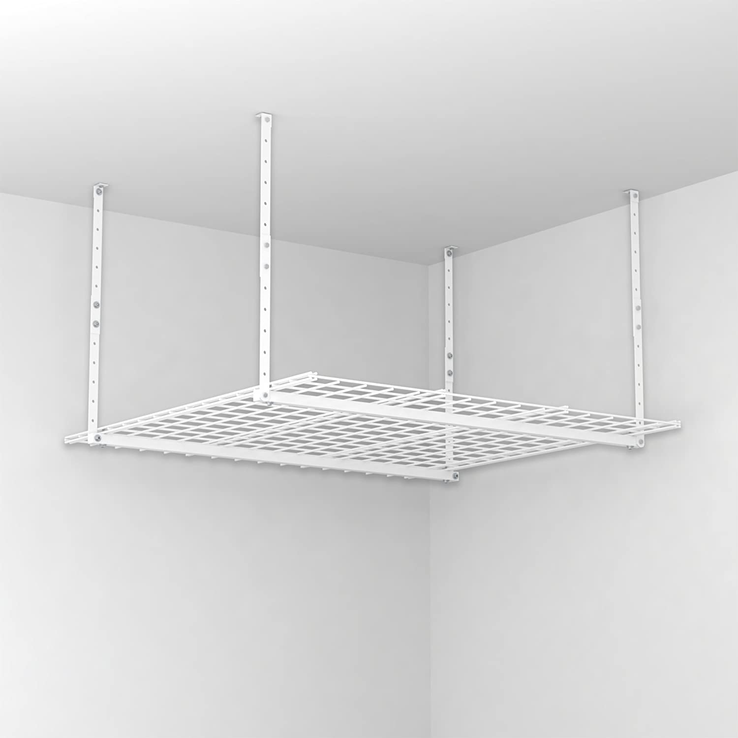 Amazon.com: HyLoft 00540 45 Inch By 45 Inch Overhead Storage System, White:  Home Improvement