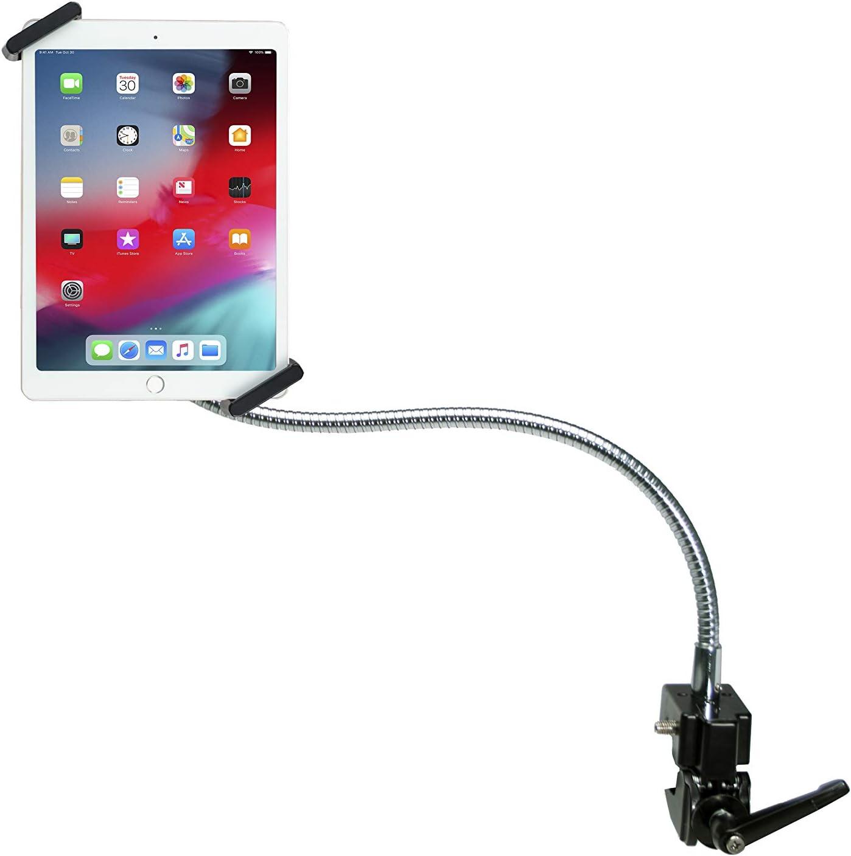 "CTA Digital: Heavy-Duty Security Gooseneck Clamp Stand for 7-14"" Tablets/Apple iPad 10.2-Inch (7th & 8thGen.), iPad Air 3, iPad Mini 5, 12.9-Inch iPad Pro, iPad Gen 6 & More"