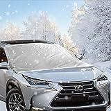 Antighiaccio per Auto, Migimi Telo Copriparabrezza auto anti neve, ghiaccio e sole, anti graffio Robusto, adatto per la maggior parte dei veicoli (160 x 118cm)