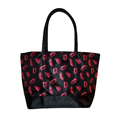 4043c272c1 low-cost Custom Personalized Kisses Print Canvas Shopping Cosmetic Tote Bag