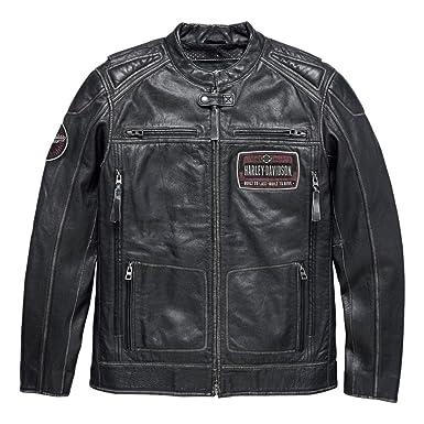 Harley Davidson Men S Rustlers Genuine Leather Riding Jacket 97195