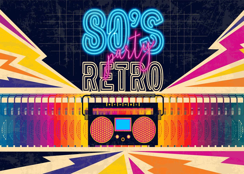 Amazon.com: SJOLOON 11415 11413 Retro 80s 90S - Fondo para ...