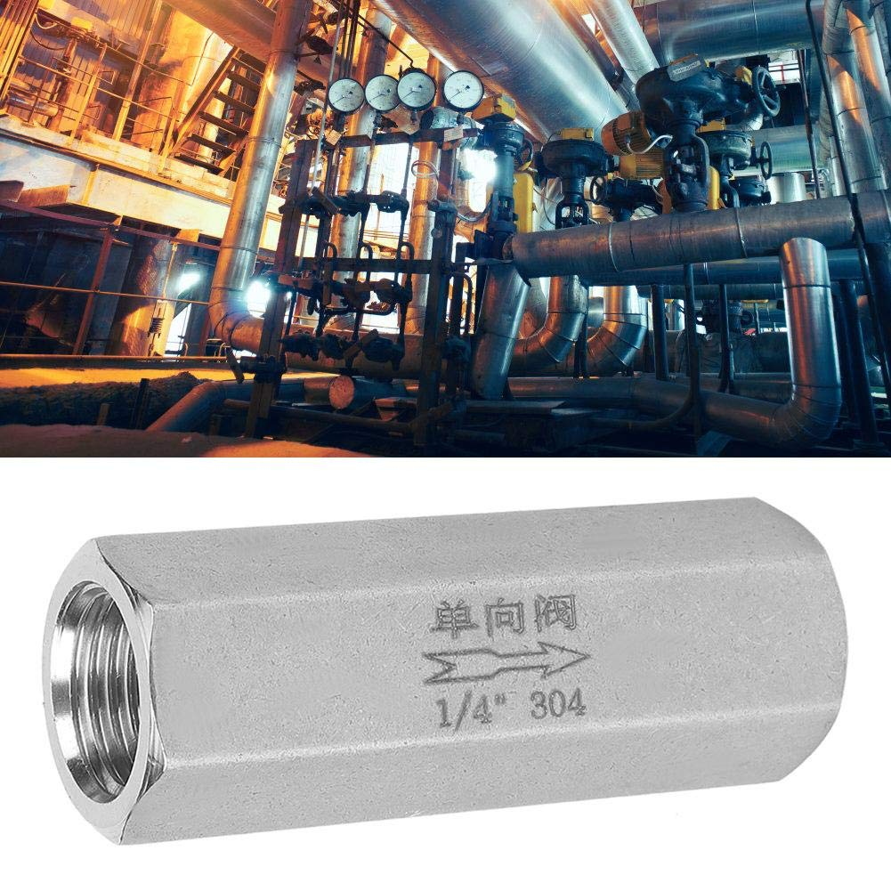 1//2 High Pressure Connector One Way Air Check Valve 304 Stainless Steel 4 Styles Hex Check Valve for Distillation for Construction