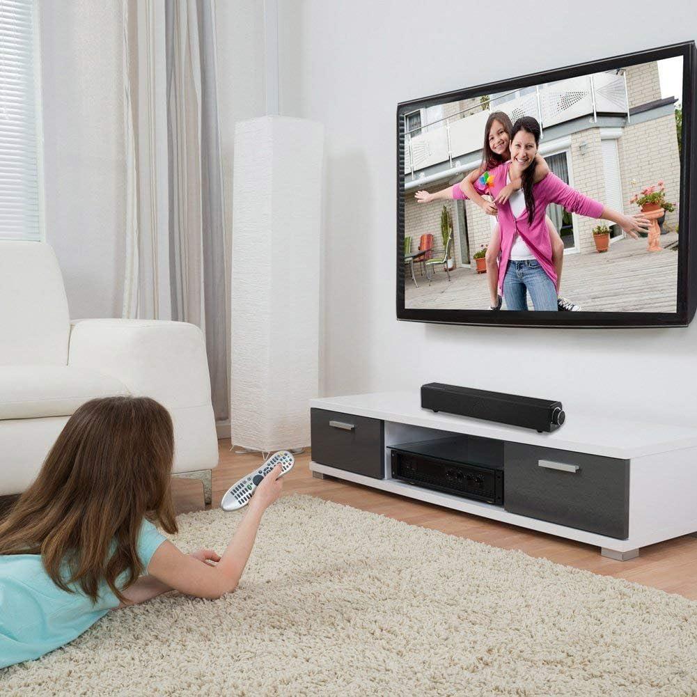Barra de sonido, Barra de sonido de TV por cable e inalámbrica, Altavoz Bluetooth 20W Altavoz estéreo Altavoz portátil de TV Barra de sonido envolvente para PC, Celular, TV, Computadora: Amazon.es: Electrónica