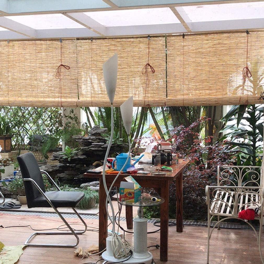Rideau /à Rouleaux en Roseau//Store Enrouleur Bambou,Salon Salon de Th/é D/écoration Ombrage Rideau de Paille Romain Vintage,/étanche et Antipoussi/ère,pour Ext/érieur//Int/érieur