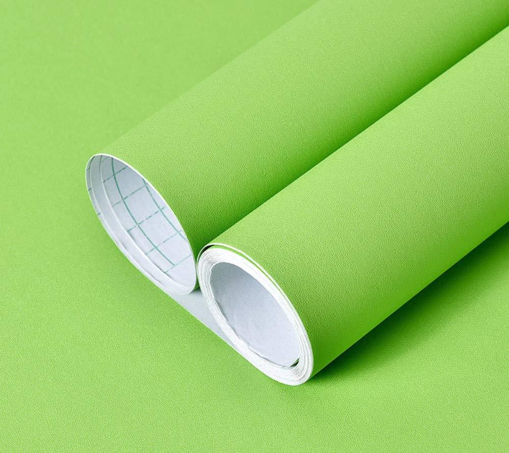 60 x 500cm Papier Peint Adhesif Papier peint de couleur unie /épaississant auto-adh/ésif papier peint uni en PVC stickers muraux imperm/éables pour enfants vert