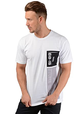 8761aaba0 Stone Island Mens 23788 Graphic Nine T-Shirt in White: Amazon.co.uk:  Clothing