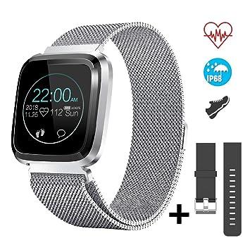 CatShin Smartwatch Android/iOS con Pulsómetro,CS08 Pulsera Actividad Reloj Deportivo Inteligente con Impermeable IP68 Cronómetro,Monitor de ...