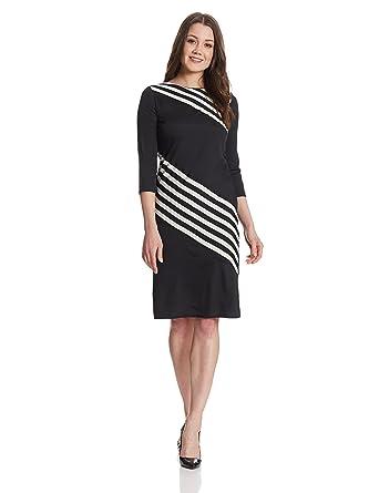 Harpa Women's A-Line Dress (GR3199-BLACK_S)