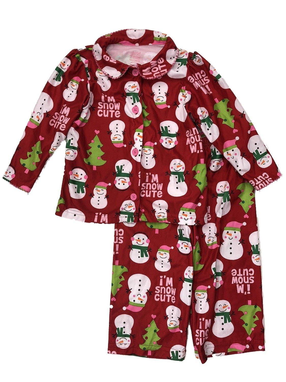 Carters Baby-girls Holiday Sleepwear Set Flannel Snowman Pajamas