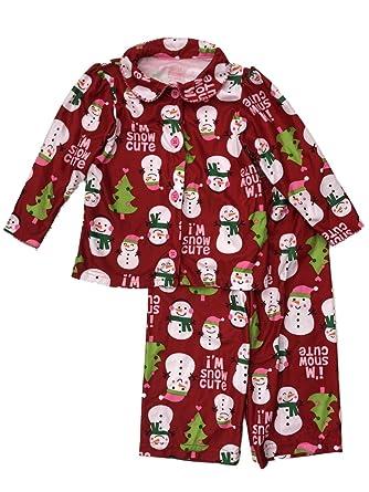 1f017749c Carter's Infant & Toddler Girls Holiday Sleepwear Set Flannel Snowman  Pajamas 24m