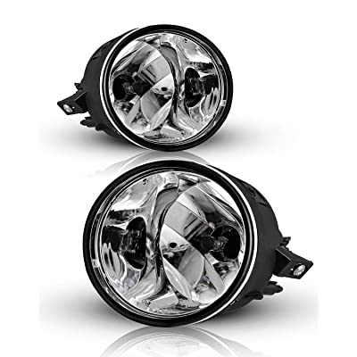 AUTOFREE Fog Lights Compatible with 2004-2015 Nissan Titan/ 2005-2007 Armada Driving Lamp Assembly with Bulbs 899 12V 37.5W- 1Pair (Clear Lens): Automotive