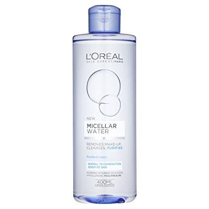 Agua micelar L Oreal Paris para piel sensible, normal y mixta 400 ml