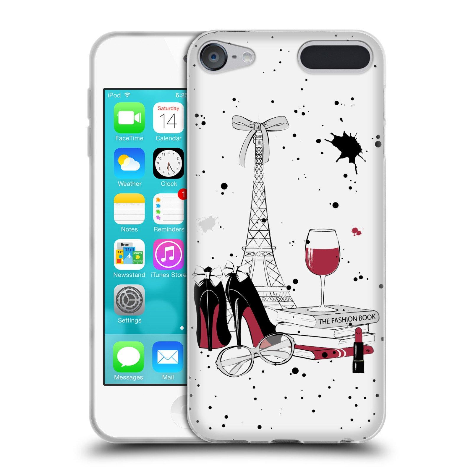 Official Martina Illustration Paris Travel Soft Gel Case for Apple iPod Touch 6G 6th Gen