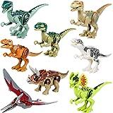 Yosemy Dinosaures Jouet Dinosaure Kit Les Blocs de Construction Mini Figurine Compatible Blocs Cadeau Parfait pour Vos Enfants, Mains, Plastique, Multicolore 8 Pièces