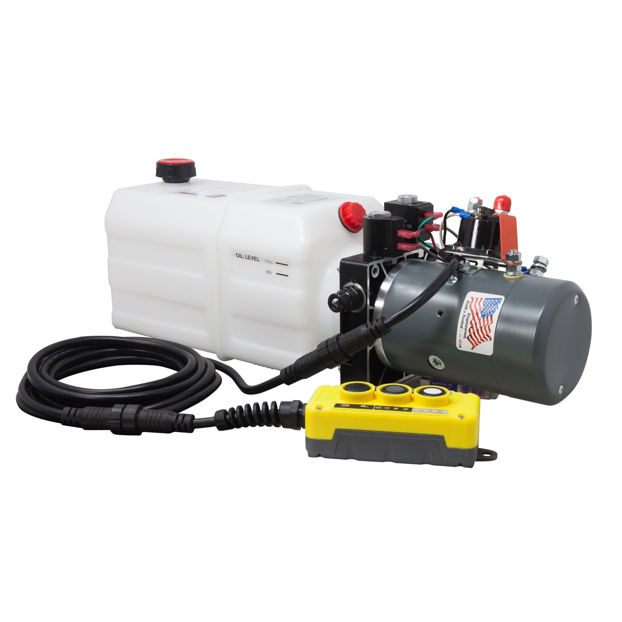 KTI Single & Double Acting 12V Hydraulic Pump - 6 Quart