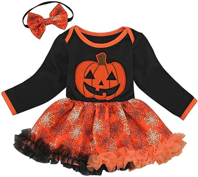 POLP Halloween Disfraz Niña Vestidos de Fiesta Bebe Tutu Conjuntos ...